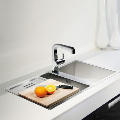 Kohler Geog 1.5 Bowl Stainless Steel Kitchen Sink - 3748T-1F-NA